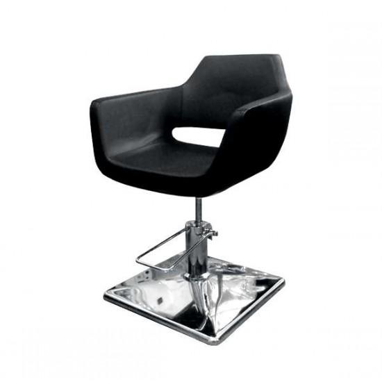 Фризьорски стол в черен цвят - модел 063