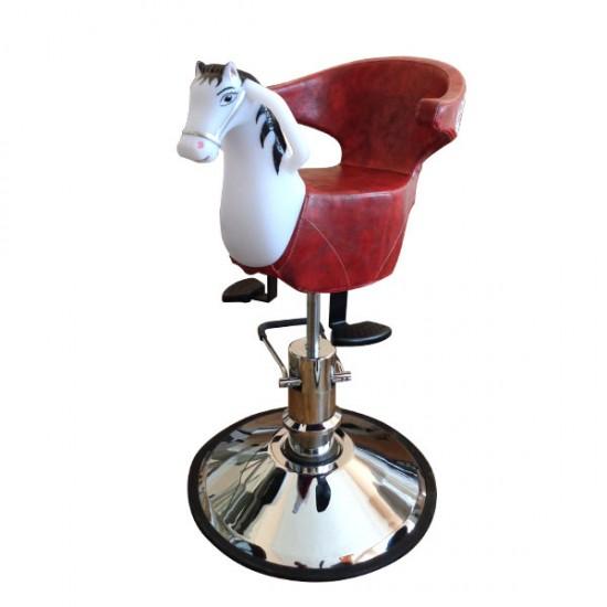 Професионален фризьорски стол за деца с формата на конче - CO78B