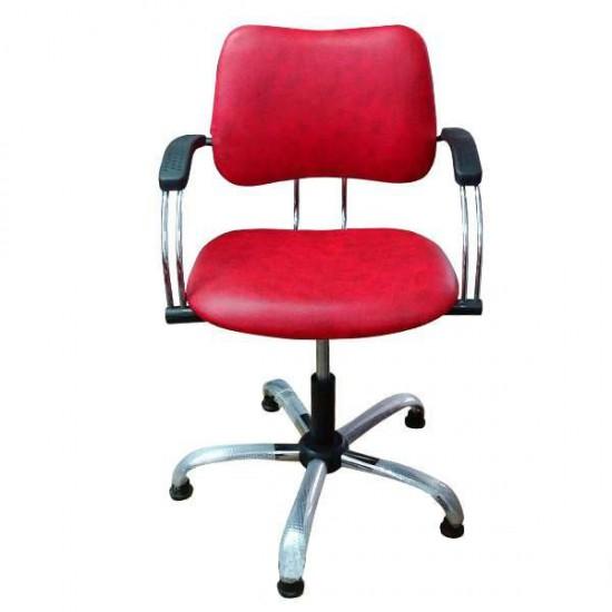 Фризьорски стол в червено 331