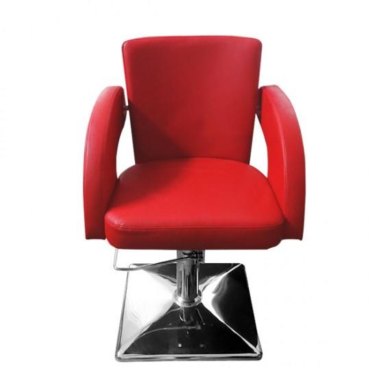 Червен фризьорски стол - модел M1001