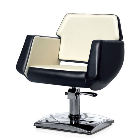 Фризьорски стол в черно и бежово РА8100BW