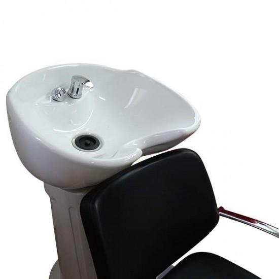 Измивна колона за фризьори черно и бяло