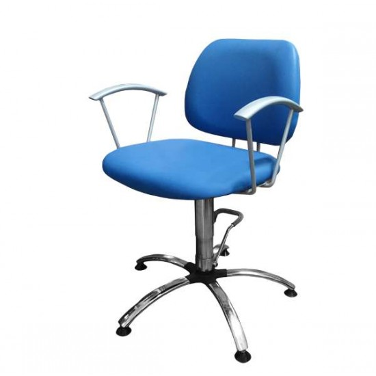 Фризьорски стол в синьо