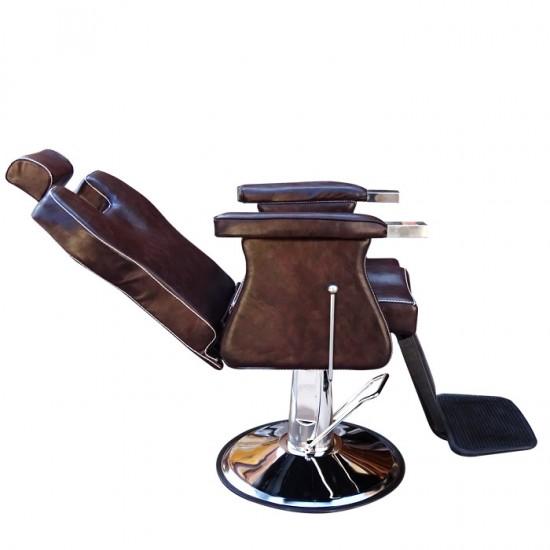 Функционален ретро стол за бръснарски салон 3165