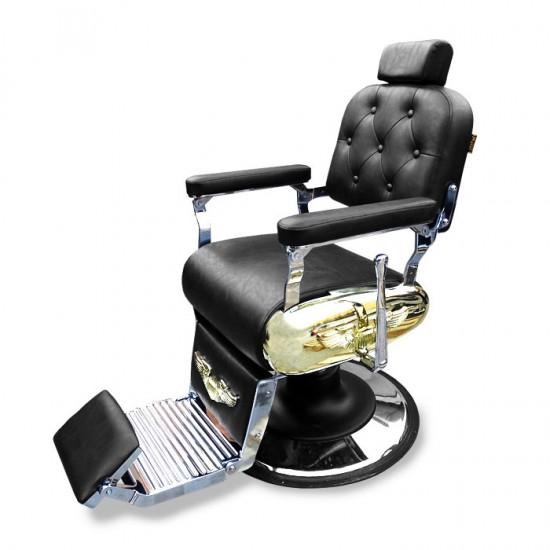 Бръснарски стол със златисти акценти IM233