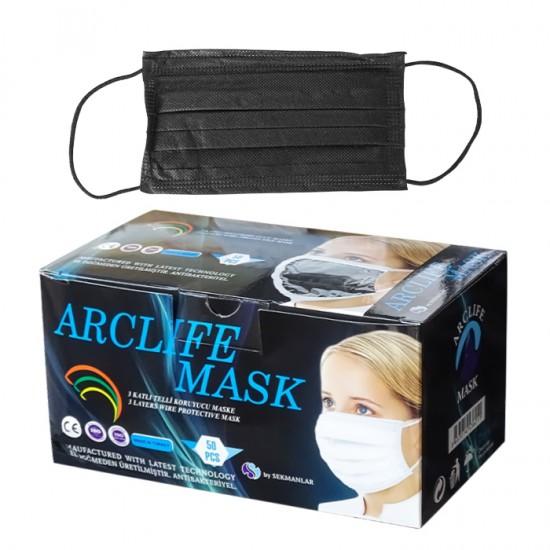 Трислойни предпазни маски за еднократна употреба Arclife mask, 50 бр.