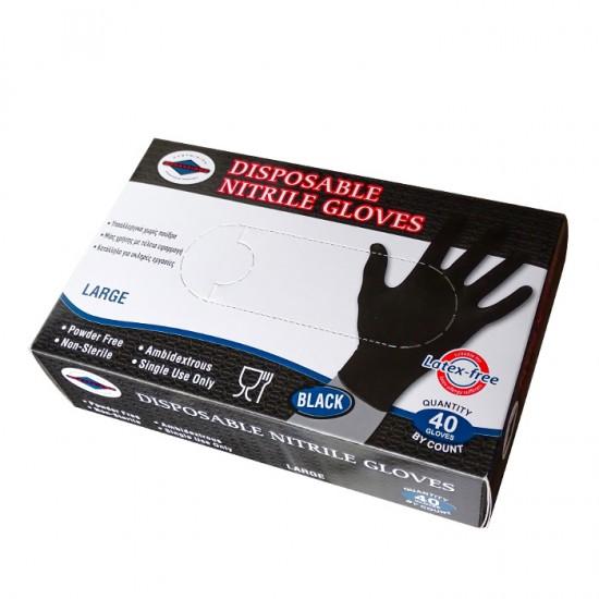 Еднократни предпазни нитрилни ръкавици, 40 броя