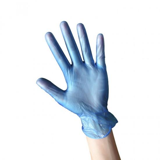 Еднократни предпазни ръкавици от нитрил, 100 броя  - сини