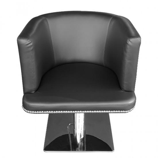 Модерен фризьорски стол в черно M720