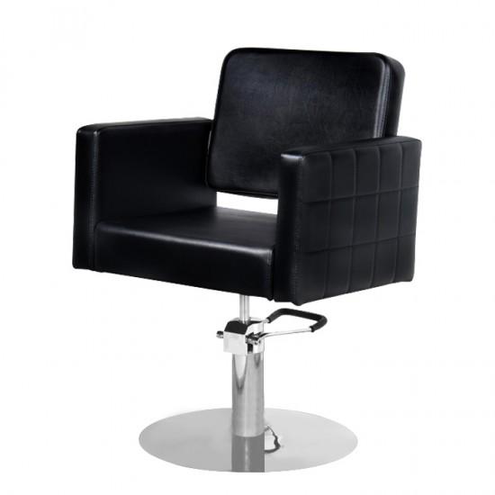 Качествен и стилен фризьорски стол модел M970 - черен