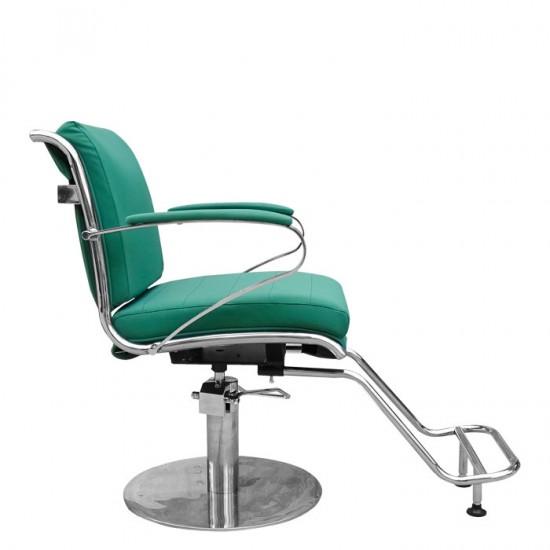 Модерен фризьорски стол в зелено IM203