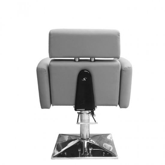 Луксозен фризьорски стол в сиво IM215