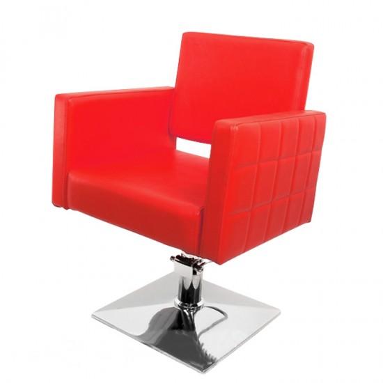 Червен фризьорски стол PA08F0R