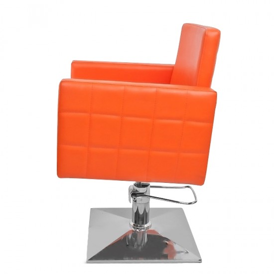 Стилен професионален фризьорски стол модел PA08F0OR – оранжев
