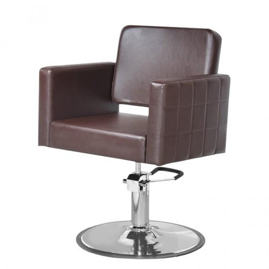 Фризьорски стол в тъмнокафяво - PA9970B