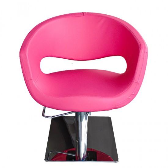 Физьорски стол с атрактивен дизайн в розово - T51