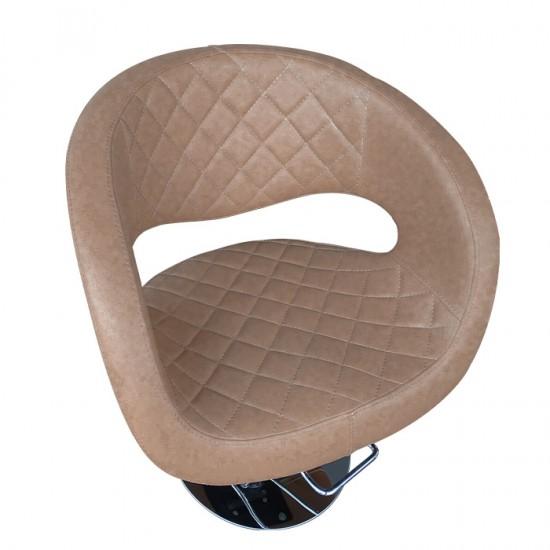 Физьорски стол с атрактивен дизайн в кафяво - T52