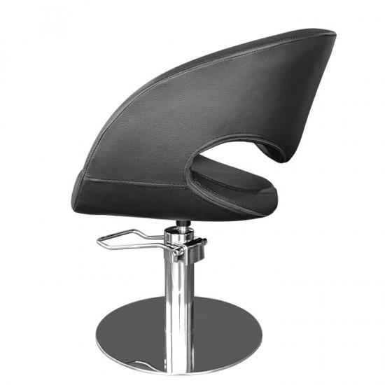 Физьорски стол с атрактивен дизайн в черно - T53