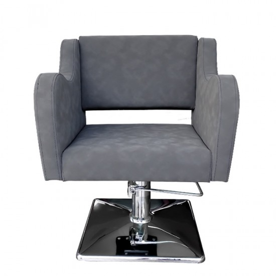 Стилен фризьорски стол в сиво модел А5000