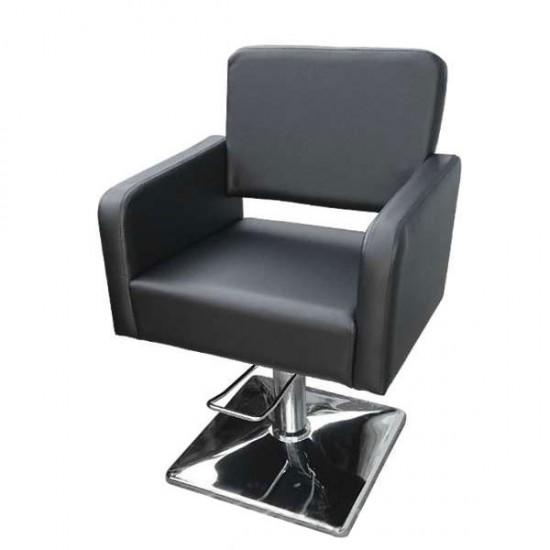 Стилен фризьорски стол M300 в черен цвят