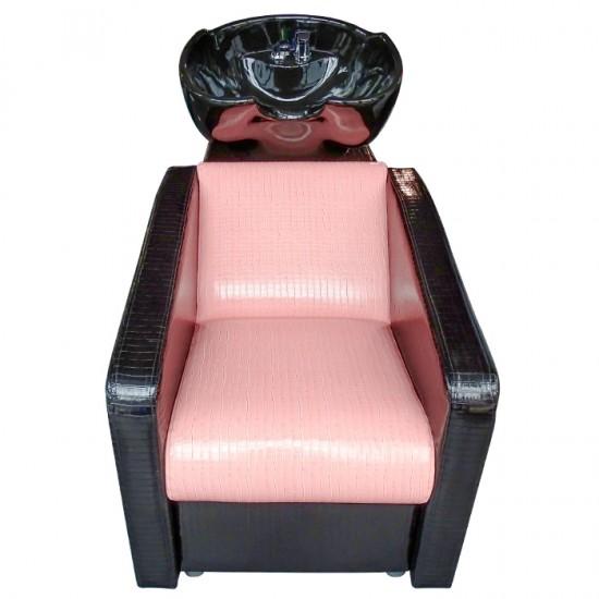 Измивна колона М9090, Еко крокодилска кожа, Розово-черна