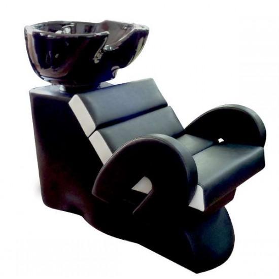 Стилна измивна колона FO22, Черно-бял
