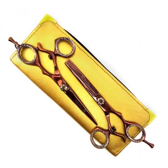 Фризьорски ножици за подстригване и филиране Yuniku модел DS8