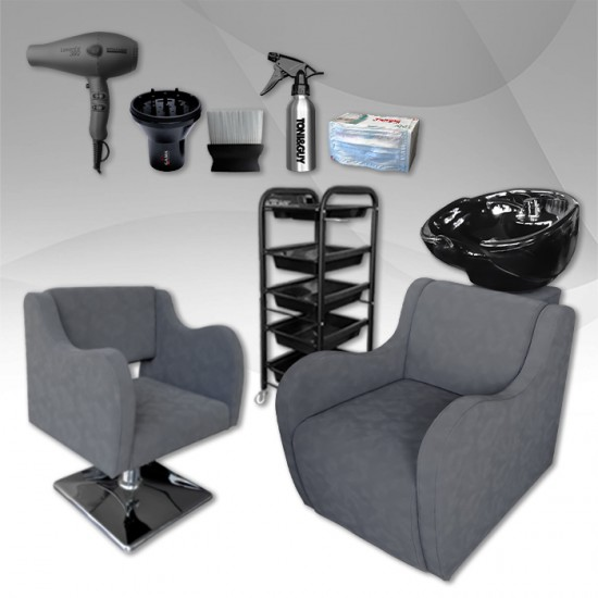 Елегантен фризьорски комплект Grey Velvet