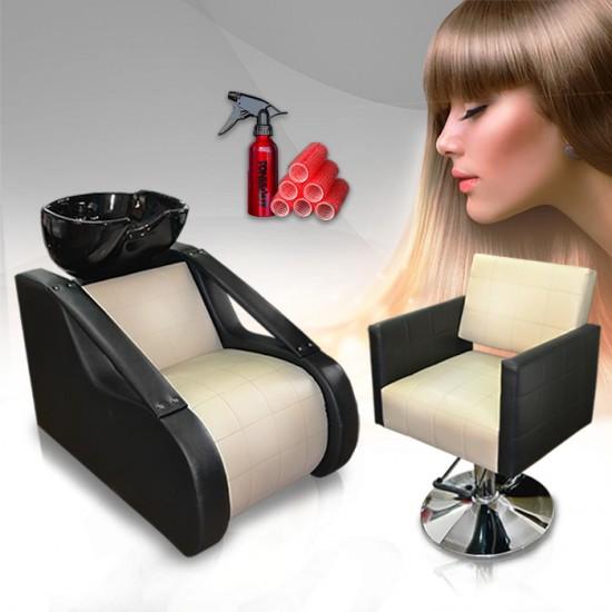 Комплект за фризьорски салон в два цвята Natural