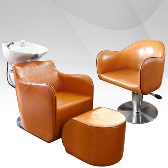 Професионално оборудване за фризьорски салон в комплект - Златна охра