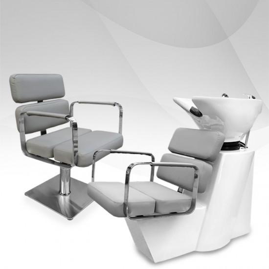 Фризьорско оборудване Grey в сиво и бяло