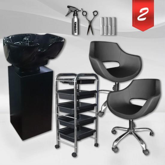 Комплект професионално фризьорско оборудване - Black