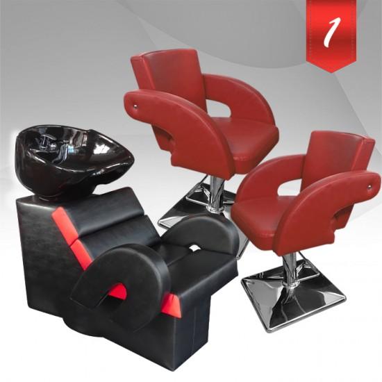 Комплект професионално оборудване за фризьорски салон с модерен дизайн 2011