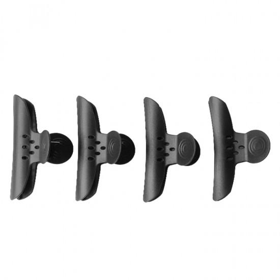 Черна шнола за коса, 120 мм - 4 броя в опаковка