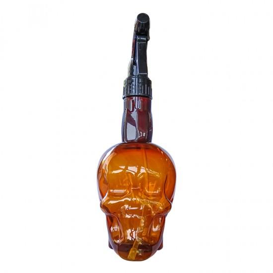 Флакон с пулверизатор с атрактивна форма Brown Skull, 500 мл.