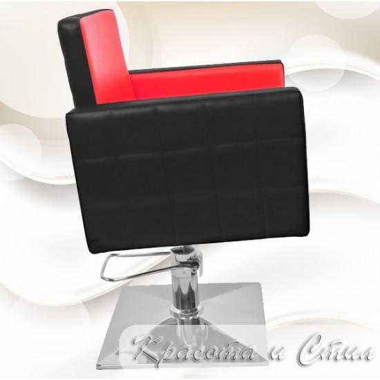Качествен и стилен фризьорски стол в черно и червено модел PA08F0BR